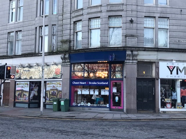 Premises in popular retail thoroughfare in Aberdeen to let