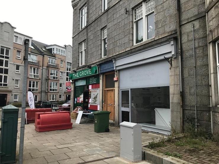 Shepherd markets prominent corner retail unit in Aberdeen west end for sale