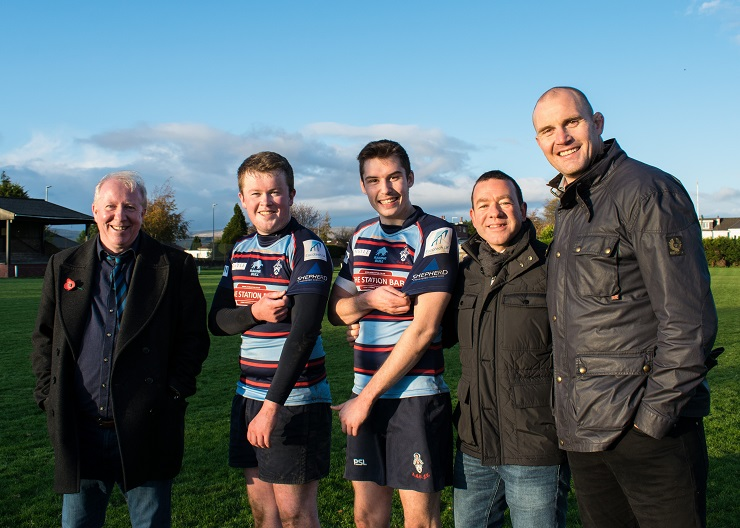 Shepherd kicks surveying from the sidelines into touch with rugby sponsorship