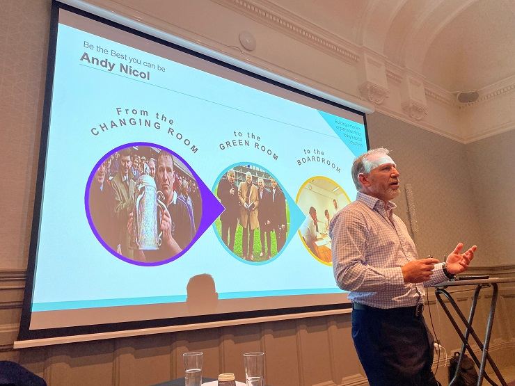 Shepherd and Hardies host first graduate and school-leaver trainee day since lockdown with former Scottish rugby star Andy Nicol as guest speaker