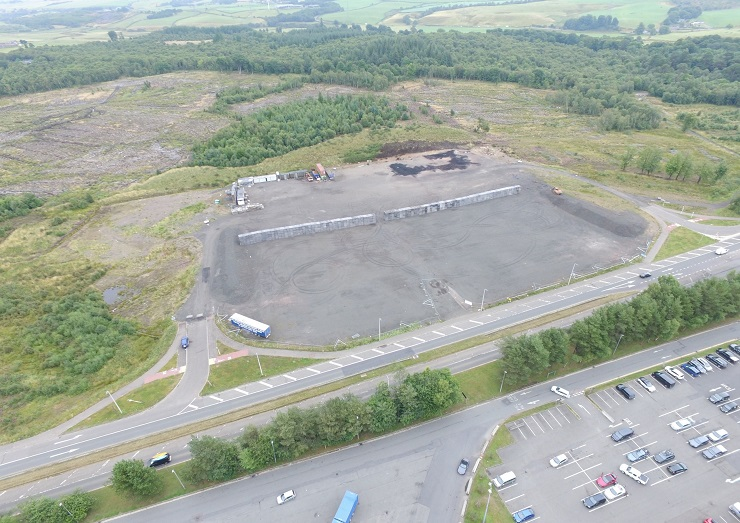 Shepherd markets prime site for industrial and distribution at Happendon Services, Douglas, off the M74 for sale
