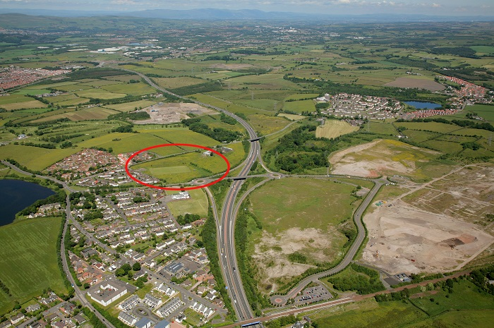 Shepherd offers prominent development site at Gartcosh Junction 2A M73 link road for sale