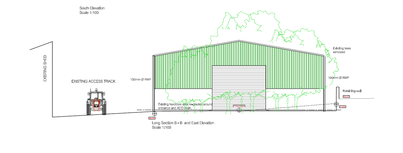 Proposed industrial unit at Stoneyhill Farm Peterhead available to let