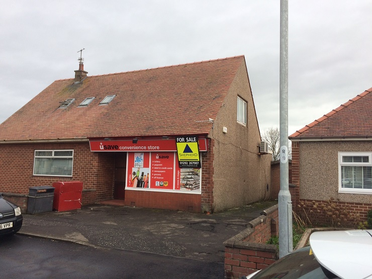 Retail premises with residential investment in Prestwick for sale