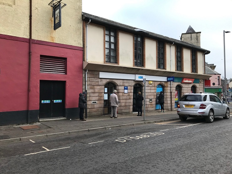 Shepherd markets former banking hall in prominent town centre location in Saltcoats as retail or office premises for lease