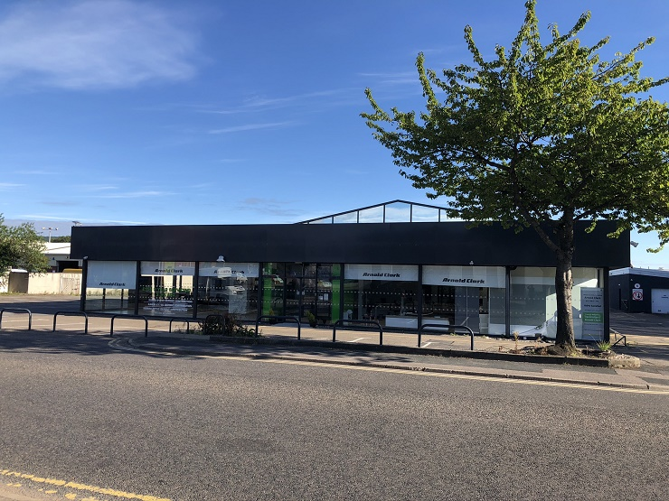 Former Arnold Clark car showroom in prime location in Inverness for sale