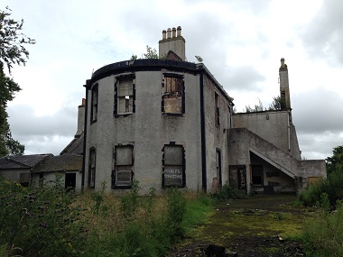 Shepherd offers fire-damaged 18th Century villa as development opportunity in St Quivox, Ayr