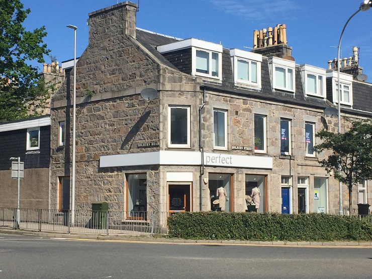 Retail unit on prominent corner location in Aberdeen for lease or sale